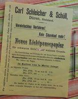 Papier Carl Schleicher Und Schüll, Düren Rheinland - Neues Lichtpaupepapier N°176 à 179 - 1894 - Imprimerie & Papeterie
