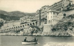 MC MONACO / La PMoterie Et Les Hôtels Vus De La Mer / - Monte-Carlo