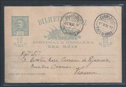 Ponte Da Barca. Viana Do Castelo. Inteiro Postal D. Carlos Circulado,1897. Postal Stationery D. Carlos Circulated 1897 - Lettere