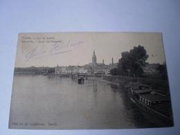 Temse - Temsche - Tamise // Vue De - Zicht Van (schip - Binnenvaart) Gelopen 1905 Ed Ed.De.Landtsheer - Temse