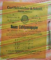 Papier Carl Schleicher Und Schüll, Düren Rheinland - Neues Lichtpaupepapier N°176 à 179 - 1896 - Imprimerie & Papeterie