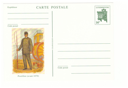 Poste PTT Facteur Messager Carte Entier Postal Luxembourg Postillon Avant 1870 - Postal Services