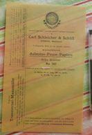 Pause-papier Carl Schleicher Und Schüll, Düren Rheinland - N°787 - 1888 - Imprimerie & Papeterie
