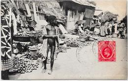 CPA Nigéria Afrique Noire Ethnic Type Circulé Marché Lagos - Nigeria