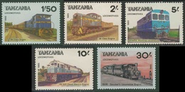 Tanzania 1985 Mi 281 /5 ** Tanzanian Railway Locomotives / Diesel, Diesel-electric, Dampflokomotiven - Tanzania (1964-...)