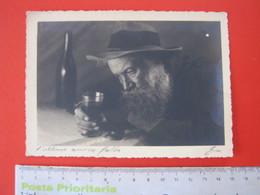 CA2 ITALIA CARD - VG. NO 1940 SALUTE ALCOLISMO VINO WINE L' ULTIMO AMICO FALSO CAPPELLO BARBA - Salute