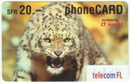 LIECHTENSTEIN A-049 Prepaid TelecomFL - Animal, Cat, Cheetah - Used - Liechtenstein