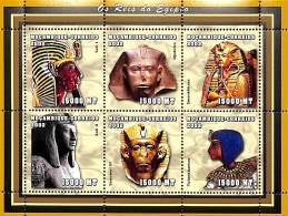 D- [37790] **/Mnh-Mozambique 2002 - Célébrité, Rois - Seti I, Djedefre, Smenkhkare, Seti II, Senusret III, Tutankhamun. - Célébrités