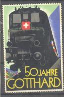 Schweiz   50 Jahre GOTTHARD  Lokomotiv - Pegatinas