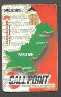 PAKISTAN USED CHIP PHONECARD CALL POINT  505 UNITS - Pakistan