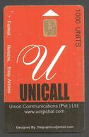 PAKISTAN USED CHIP PHONECARD UNICALL  1000 UNITS - Pakistan
