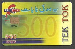 PAKISTAN USED CHIP PHONECARD TEK TOK 500 UNITS - Pakistan