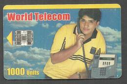 PAKISTAN USED CHIP PHONECARD WORLD TELECOM 1000 UNITS - Pakistan