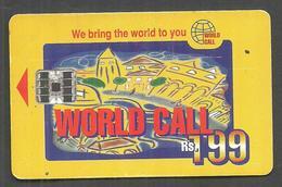 PAKISTAN USED CHIP PHONECARD WORLD CALL RS 199 - Pakistan