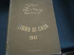 LIBRO DI CASA 1941-RICHARD GINORI - Altri