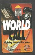 PAKISTAN USED CHIP PHONECARD WORLD CALL RS 500 - Pakistan