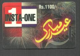 PAKISTAN USED CHIP PHONECARD INSTA ONE RS 1100 - Pakistan