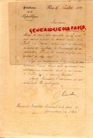 75- PARIS- LETTRE PRESIDENCE DE LA REPUBLIQUE-1891- 92- A FOUGERAS PRESIDENT SOCIETE GYMNASTIQUE A LA DEFENSE-TUILERIES - Documents Historiques