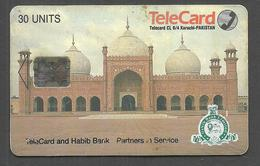 PAKISTAN USED CHIP PHONECARD TELECARD 30 UNITS 7UP SLOGAN - Pakistan