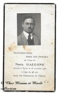 NOEL GALLONE DECEDE 13 OCTOBRE 1930 A NYON SUISSE - AVIS DE DECES - Décès