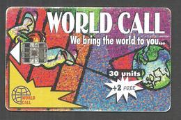 PAKISTAN USED CHIP PHONECARD WORLD CALL 30 UNITS - Pakistan