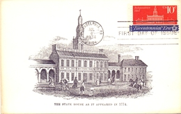 USA THE STATE HOUSE AS IT APPEARED IN 1774 FDC  MAXIMUM  1974   (GIUGN180094) - Cartoline Maximum