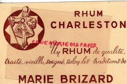 33 - BORDEAUX- BUVARD RHUM CHARLESTON MARIE BRIZARD - Alimentaire