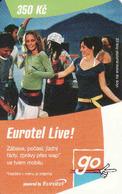 Czech Republic, Eurotel - Go Coupon 350 Kč, In Year 2006 Renamed To Telefonica O2 - Czech Republic