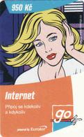 Czech Republic, Eurotel - Go Coupon 950 Kč, In Year 2006 Renamed To Telefonica O2 - Czech Republic