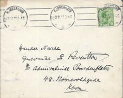 DENMARK  -  NICE 1917  COVER - 1913-47 (Christian X)