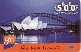 Czech Republic, Eurotel - Go Coupon 500 Kč, In Year 2006 Renamed To Telefonica O2, Opera Adelaide - Czech Republic