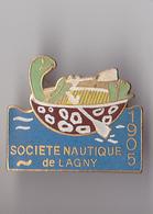 PIN'S THEME SPORT AVIRON CLUB DE LAGNY EN SEINE ET MARNE - Rowing