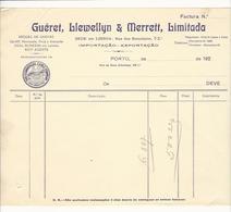 Invoice * Portugal * 20's * Porto * Guéret, Llewellyn & Merrett, Limitada * Holed - Portugal