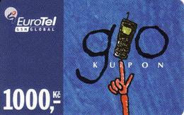 Czech Republic, Eurotel - Go Coupon 1000 Kč, In Year 2006 Renamed To Telefonica O2, - Czech Republic