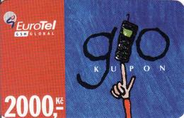 Czech Republic, Eurotel - Go Coupon 2000 Kč, In Year 2006 Renamed To Telefonica O2, - Czech Republic