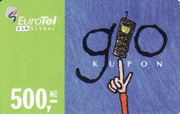 Czech Republic, Eurotel - Go Coupon 500 Kč, In Year 2006 Renamed To Telefonica O2, - Czech Republic
