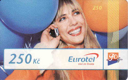 Czech Republic, Eurotel - Go Coupon 250 Kč, In Year 2006 Renamed To Telefonica O2, - Czech Republic