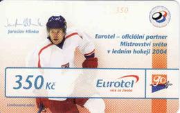 Czech Republic, Eurotel - Go Coupon 350 Kč, In Year 2006 Renamed To Telefonica O2, Hockey - Hlinka - Czech Republic
