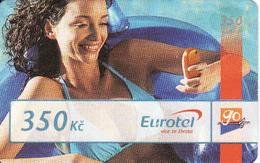 Czech Republic, Eurotel - Go Coupon 350 Kč, In Year 2006 Renamed To Telefonica O2, - Czech Republic