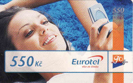 Czech Republic, Eurotel - Go Coupon 550 Kč, In Year 2006 Renamed To Telefonica O2, - Czech Republic