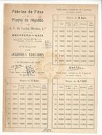 Portugal * Preços Dos Algodões Torcidos 1939 * Fábrica De Fitas E Fiação De Algodão * Crestuma - Gaia * Holed - Portugal