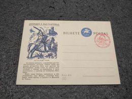 PORTUGAL STATIONERY CARD GUALDIM PAIS FIREMEN CONGRESS CANCEL 1958 - Postal Stationery