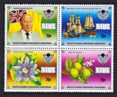 Niue Pacific Islands Conference Block Of 4 Overprint SG#595-598 SC#484-487 - Niue