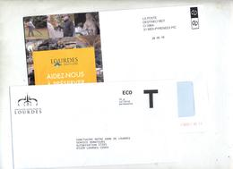 Enveloppe Reponse T Notre Dame De Lourdes - Kaarten/Brieven Antwoorden T