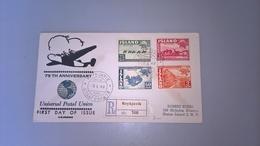BUSTA PRIMO GIORNO ISLANDA 1949 - 1944-... Republic