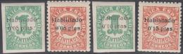 España Emisiones Locales Patrióticas Baleares 1/4 1936 Mallorca Cifras MNH - Sin Clasificación