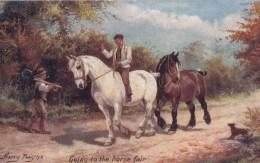 AR57 Animals - Going To The Horse Fair, Artist Harry Payne, Tuck Oilette - Horses