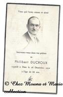 PHILIBERT DUCROUX DECEDE 26 DECEMBRE 1950 - AVIS DE DECES - Décès