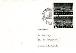 Schweiz Suisse 1947: Zu 277 Mi 484 Yv 441 Mit O TAG DER BRIEFMARKE LUZERN 7.XII.47 (Zu CHF 2.50) - Tag Der Briefmarke