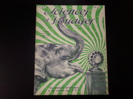 """Revue """" Sciences Et Voyages """" N° 307, 1925, """" Un éléphant Prend Part à Un Concert Par T.S.F """" - Bücher, Zeitschriften, Comics"""